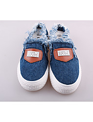 Синий / Белый-Женский-На каждый день-Полотно-На плоской подошве-Туфли Мери-Джейн-Кеды