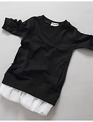 Girl's Casual/Daily Solid Dress / BlouseCotton Spring / Fall Black / White