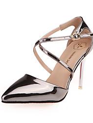 Damen-High Heels-Kleid / Party & Festivität-Leder-Stöckelabsatz-Absätze / Knöchelriemen / Spitzschuh-Silber / Gold / Kaffee