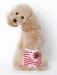 Cães Calças Roupas para Cães Verão Primavera/Outono Marinheiro Casual Preto Vermelho Azul