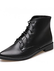 Women's Boots Spring/Fall/Winter Fashion Boots/Comfort/Styles/Pointed Toe/Closed Toe/Flats PU Casual Flat Heel