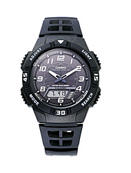 Men's Sport Watch Digital Stopwatch Plastic Band Casual Black Brand