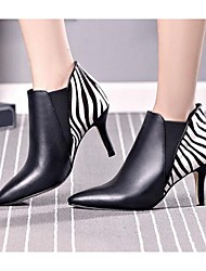 Women's Boots Fall Winter Fashion Boots Leather Outdoor Stiletto Heel Gore Black Red Other