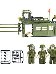 Blocs de Construction Pour cadeau Blocs de Construction Maquette & Jeu de Construction War Chariot Plastique Au-dessus de 6 Vert Jouets