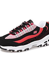Feminino-Tênis-Conforto-Rasteiro-Laranja Preto e Vermelho Preto e Branco-Couro Ecológico-Para Esporte