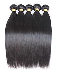 5 Peças Retas Tramas de cabelo humano Cabelo Malaio Tramas de cabelo humano Retas