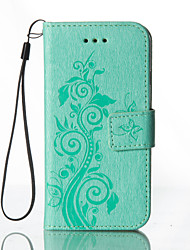 Embossed Leather Wallet for HTC M8