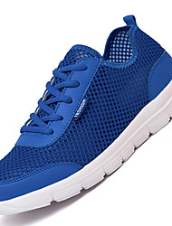 Men's Athletic Shoes Comfort Synthetic Athletic Flat Heel Lace-up Black / Blue / GrayWalking / Running / Sneakers