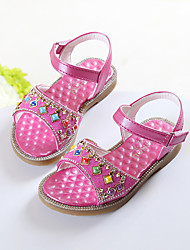 Girl's Sandals Summer Slingback Leatherette Casual Flat Heel Others Pink White Fuchsia Others