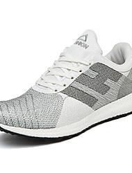 Femme-Extérieure / Décontracté / Sport-Jaune / Blanc / Gris-Talon Bas-Confort-Sneakers-Tulle