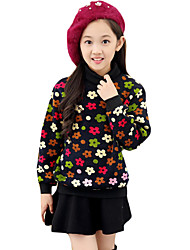 Girl's Casual/Daily Print Sweater & CardiganCotton Winter Black