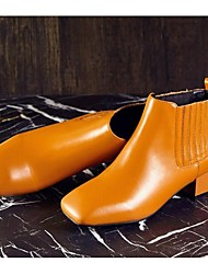 Women's Boots Fall Winter Leather Outdoor Low Heel Others Black Yellow Other