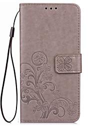 Pour Coque Mi Porte Carte Portefeuille Avec Support Relief Coque Coque Intégrale Coque Fleur Dur Cuir PU pour XiaomiXiaomi Mi Max Xiaomi