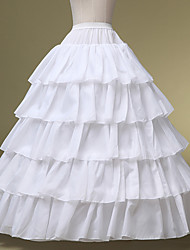 Slips Ball Gown Slip Floor-length 5 Chinlon White