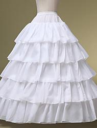 Unterhosen Abendkleid Bodenlänge 5 Chinlon Weiß