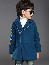 Boy's Casual/Daily Embroidered Down & Cotton Padded / Suit & BlazerWool / Rayon Winter Black / Blue
