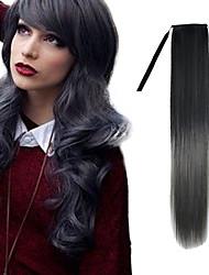 22-Zoll-schwarze Mischung dunkel Oma grau gerade Band in der synthetischen Haarverlängerung