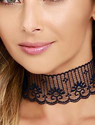 Femme Collier court /Ras-du-cou Dentelle Alliage Sexy Mode Simple Style Personnalisé Noir Bijoux Pour Mariage Soirée Quotidien Décontracté