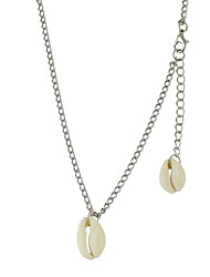 Gold Silver Chain Necklace with Shell
