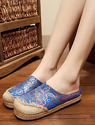 Feminino-Chinelos e flip-flops-Conforto-Rasteiro-Azul / Vermelho-Borracha-Casual