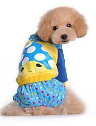 Katzen / Hunde Kostüme / Mäntel / Hosen / Overall / Pullover Blau / Rose Hundekleidung Winter / Frühling/Herbst Karton / GepunktetCosplay