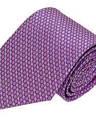 Men Polyester Silk Leisure Jacquard Necktie Tie
