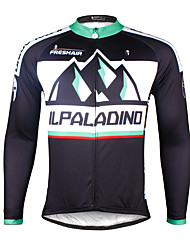 ILPALADINO Cycling Jersey Men's Long Sleeve Bike JerseyQuick Dry Ultraviolet Resistant Breathable Compression Lightweight Materials