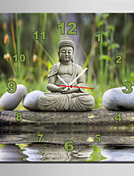 E-HOME® Stone Buddha Clock in Canvas 1pcs