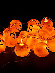 16pcs/set Halloween Pumpkin Props Decoration Pumpkin Lamp Halloween Party Decoration A String Pumpkin Light Crazy Party