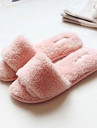 Feminino-Chinelos e flip-flops-Chanel-Rasteiro-Rosa-Flanelado-Casual