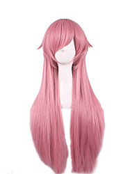 Cosplay Wig  The Future Diary The Wire is High Temperature Smoke Pink 28 Inch Long Straight Hair Wigs