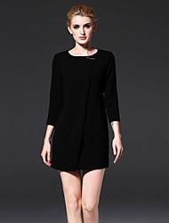FRMZ  Women's Formal Simple Sheath DressSolid Round Neck Above Knee Sleeve Red / White / Black