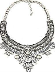 Femme Pendentif de collier Colliers Déclaration Perle Argent sterling Imitation de perle Gemme Alliage Mode Bijoux de déclaration Européen