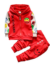 Boy's Casual/Daily Clothing SetCotton Winter Blue / Green / Red