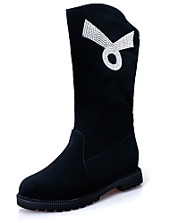 Women's Boots Summer / Fall Round Toe Synthetic Casual Low Heel Crystal Black Others