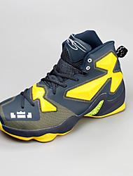 Masculino-Tênis-Arrendondado-Rasteiro-Amarelo / Verde / Vermelho / Prateado / Preto e Vermelho / Azul Real-Couro Ecológico-Para Esporte