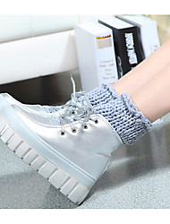 Women's Boots Spring / Fall Flats Rubber Outdoor Low Heel Others Black / Silver Sneaker
