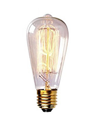 ST58 60w e27 lâmpada incandescente retro filamento da lâmpada de Edison do vintage (AC220-240V)
