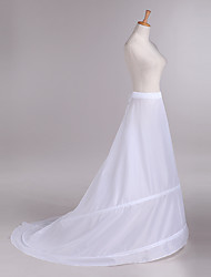 Slips Chapel Train Cathedral-Length 2 Taffeta White