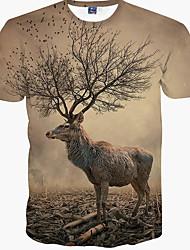 Herren T-shirt-camuflaje Freizeit Baumwolle Kurz-Beige