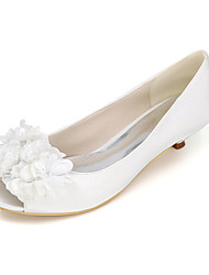 Women's Heels Spring / Summer / Fall Peep Toe Silk Wedding / Party & Evening