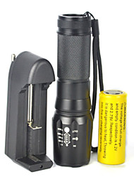 5-Mode 2000LM XML T6 LED Zoomable Focus Adjustable Flashlight Torch LampComplete With Battery Charger