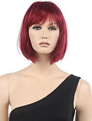 kurze Art und Weise reiz Perücke Frauen Cosplay Perücken 32cm Weinrot Animekunsthaar Perücke bobo Haar mit ordentlich knallt