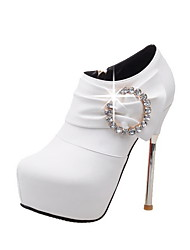 Women's Round Closed Toe Spikes Stilettos Frosted Solid Zipper Boots