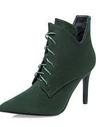 Women's Boots Fall / Winter Comfort / Pointed Toe / Closed Toe  Casual Stiletto Heel Lace-up