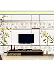 Дамаск / Цветочные / геометрический / В полоску / Ар деко / Плитка / Однотонный Обои Для дома Люкс Облицовка стен , Нетканые бумаги