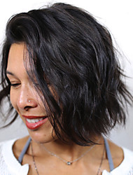 Brazilian Short Bob Virgin Human Hair Wigs Water Wave Wigs For Black Women Full Lace With Baby Hair Wig