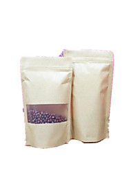 High-Grade Matte Windows Visual Self-Styled Thick Kraft Paper Bag A Pack Of Ten Self-Sealing Bag 9 * 13 * 3