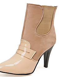 Women's Shoes Stiletto Heel Pointed Toe Color Contrast Ankle Bootie More Color Available