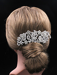 Little Rose Long Style Rhinestone Comb